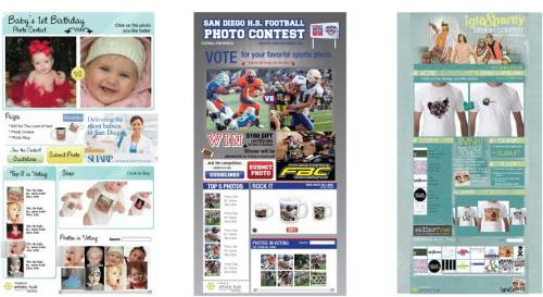 Baby Photo Contest, Sports Photo Contest, Tshirt Design Contest