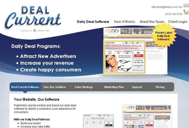 Daily Deal Software, Daily Deal Solution, Private Label Daily Deal Software, Deal Current