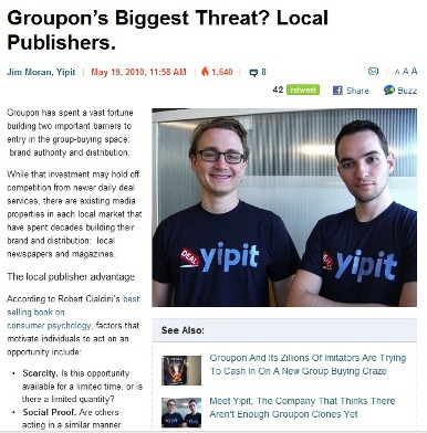 Groupon's Biggest Threat Local Publishers