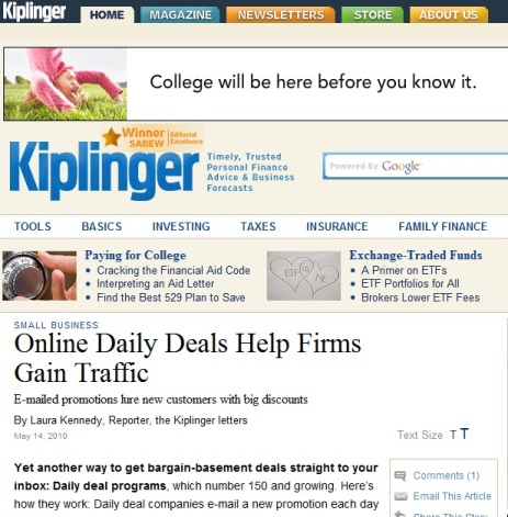 Kiplinger Mag features Deal Current
