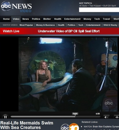 Real Live Mermaid Linden Wolbert on ABC 20/20 Superhumans